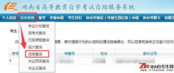 2020年10月湖南中医药大学自考什么时候查询成绩