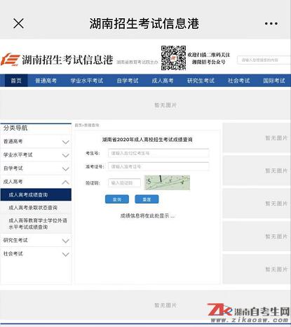 2020年10月湖南成考成绩公布