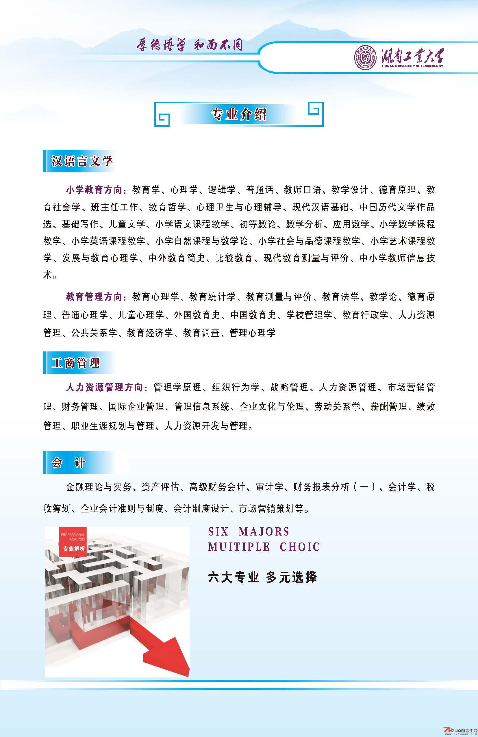 湖南工业大学全日制自考招生